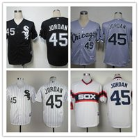 Wholesale 2016 sport jersey Chicago White Sox Michael Jordan black white men s stitched baseball jersey free ship