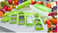 Wholesale 12 set Vegetable Fruit multi function Peeler Cutter Chopper Slicer Kitchen Cooking Tools Shredders Slicers For Salad