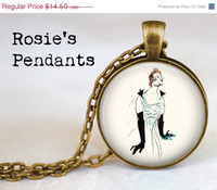 Wholesale SALE SHIPS AFTER Toulouse Lautrec s quot Yvette Guilbert with Black Opera Gloves quot Pendant Necklace or Key Ring Vintage Inspired
