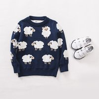 Cheap 2015 Spring Girls Pullover Baby Girl Boys Sheep Sweaters Knit Jumper Kids Clothes European New Fashion Children's Clothing Cheap 02 1502z