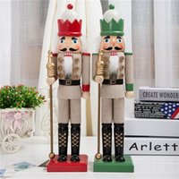big nutcrackers - 38 cm Germany Traditional wooden Nutcracker doll toys fashion for home decoration