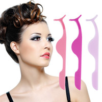 Wholesale Multifunctional False Eyelashes Plastic Auxiliary Clip Tweezers Health and Beauty Eye Makeup Tool Hot