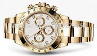 Precio de Esfera blanca para hombre de los relojes automáticos-Relojes de lujo para hombre de alta calidad Movimiento automático Oro blanco de dial de acero inoxidable relojes de pulsera de los hombres del día Oro banda de diamantes