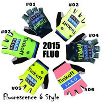 half finger gloves - 2015 tinkoff saxo bank Cycling Gloves Half Finger popular Guantes de ciclismo comfortable and durable presents bicycle ciclismo