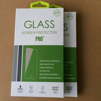Wholesale 100ps Universal Tempered Glass Screen protector Retail Package box for iphone plus with colorful just the package
