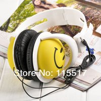 cute mp3 earphone - New Fashion And Cute Style Smile Face Headphone Earphones Headset For Computer MP3 PSP DJ