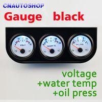 Wholesale Black Car Gauge Holder In Kit Voltage Water Temperature Oil Press Triple Auto Meter Dashboard order lt no track