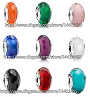 screw - 9pcs Sterling Silver Screw Fascinating Faceted Murano Glass Beads Fit Pandora Jewelry Charm Bracelets Necklaces