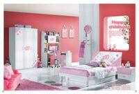 Wholesale Pink Girl Furniture Children Bedroom Furniture bed desk wardrobe and bookshelf set wood furniture MYL8807