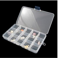 storage containers - 2015 direct selling freeshipping Plastic Containers Jewelry Beads Loom Bands Storage Nail Box Compartments