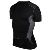 Wholesale Summer Men s Short Sleeve Shirts Quick Drying Breathable Running Cycling Jersey Base Layer Workout Fitness Compression Shirt