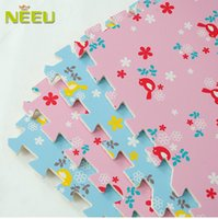 floor mat - New Arrive Promotion Rural Style Floor Mat Soft Eva Puzzle Mats Child Crawling Foam Mats PM013