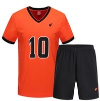 Wholesale Men s Breathable Custom Football Jerseys High Quality Color Quick Drying Sportswear T Shirt Shorts Suit Football Jersey