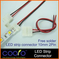 lead free solder wire - mm pin LED strip connector wire for single color strip free solder connector wire