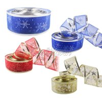 wired christmas ribbon - 2 Yard Dark blue color Organza Bling Ribbon Wreath Christmas Present Weeding Wire Edged Colors