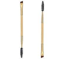 Wholesale Makeup tools bamboo handle double eyebrow brush eyebrow comb and makeup brush