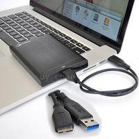 Universal Noir USB 3.0 Charge rapide des données SYNC Câble pour Samsung Galaxy Note3 WD Seagate Disque dur externe Toshiba Portable Hard Drive