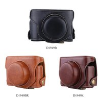 Wholesale Hard Leather Camera Case Bag with Strap for Fuji Fujifilm X30