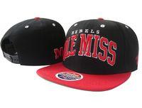 american university baseball - Ole Miss Rebels NCAA College Football Caps Fashion University of Mississippi Team Sports Baseball Hats American Adjustable Bone