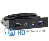 USB3.0 порт 13.5 дюймов металла передней панели USB-концентратор с USB2.1A зарядки / 1 HD интерфейс / 1 вход для микрофона порт аудио порта