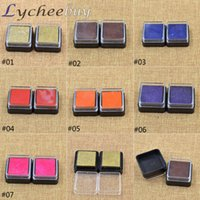 Wholesale 2pcs New Oil Based Multi Colour Ink Pad For Rubber Stamp DIY Craft Fabric Stamping Gift