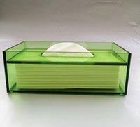 acrylic tissue boxes - Acrylic transparent high grade business rectangle tissue box creative hand pick tissue box