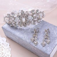 beauty free delivery - Shinning Wedding Bridal Crystal Veil Tiara Crown Headband Hairwear Beauty Pageant Crown Headpiece In Stock Fast Delivery Hot Z