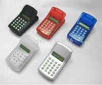 Wholesale DHL Freeshipping FLCD Screen Display Mini Portable Pocket Clip Calculator for Student mon
