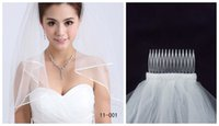 Wholesale 2015 Cheap New Bridal Cheap In Stock Tulle Wedding Veil Cascading Ruffles Layers White Ivory Fast Delivery