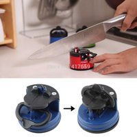 Wholesale Blue steel Knife Sharpener with suction pad Scissors Grinder Secure Suction Chef Pad Kitchen Sharpening Tool afilador cuchillos