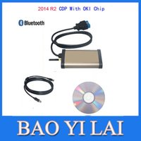 Wholesale 2014 R2 Bluetooth CDP Pro for cars trucks Compact Diagnostic Partner OKI CHIP OBD OBDII OBD2 Car diagnostic tool