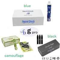 Black camouflage wholesale - Dry Herb Snoop Dogg G Pro Series Vaporizer Kits White with blue Black Camouflage colors snoop dogg pro herbal can ship out within days