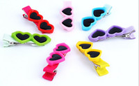Wholesale Fashion Pet Dog Bows Hair Clips Love Style Doggie Boutique Sunglasses Pet Grooming Hair Accessories