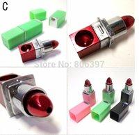 Wholesale New Novelty Lipstick Pipe MINI Metal Tobacco Pipe Smoking Pipe Hand Herb Best Gift Promotion Free DHL EMS SHIPPING
