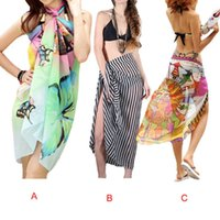 Wholesale w1027 Attractive Swimwear Beach Cover Up Chiffon Sheer Sarong Swimsuit Scarf Beach Bath Towel May