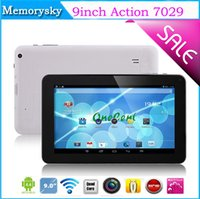 Wholesale Cheap Wholesale Xmas Gifts - Cheap 9inch Tablets Action 7029 Quad Core Tablet PC 8GB Android 4.4 2MP Camera Bluetooth Wifi 9inch Touch Screen Tablet PC Xmas Gift 002565