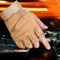 Cycling bicycle racing training - Tactical Black Hawk Fingerless Gloves Motorcycle Bicycle Cycling Riding Gloves High Quality Army Training Man Gloves
