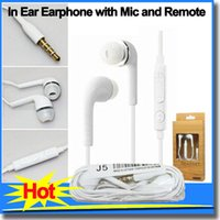 Wholesale In Ear Headset Earphone Headphones with Mic and Remote Volume Control Stereo for Samsung head phones Galaxy S4 Note with Retail Package