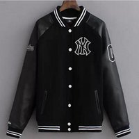 baseball letterman jackets - Fall Leather Sleeve Baseball Jacket Men Hip Hop Streetwear Brand Wool Sport Coat College Letterman Black Varsity Jackets For Men