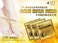 Wholesale AFY k Gold foot mask Exfoliating Foot Mask foot care mask foot care health care
