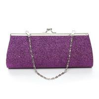 Wholesale Women Handbags Shiny Leather Wedding Bridal Evening Bag Party Lady Clutch Purse Handbag Glitter Hight Fashion with Chain