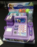 Wholesale 2016 Retail NEW Voice glowing frozen Multi function cash register Play educational toys Elsa Anna girls gift Of genuine