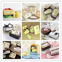 handmade soap - 20pcs handmade soap for wedding scented soap mini baby shower soap with gift package