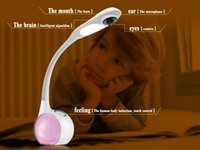 Wholesale new Arrival HD P Mini Camera Smart Parents Desk LED Lamp P2P degree rotate SD Card Slot IR Night Two way Voice