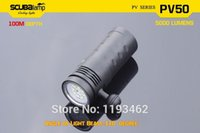 Cheap Scubalamp PV50 100m diving torch New photo&video lights 5000 lumens 10*CREE LED including UV and Red light