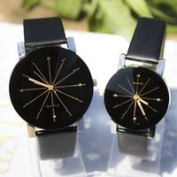 best looking watch - Yiwu factory direct selling best price fashion good looking watches black color simple style lovers watch WL