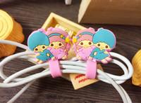 Wholesale 2015 latest Cartoon shape winder cable bobbin winder hone holder Silicon rubber button reel RXQ15