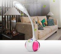 Wholesale 2015 Fashion Adjustable USB Rechargeable T3 Touch Sensor LED Reading Light Table lamps Desk Table Lamps DHL