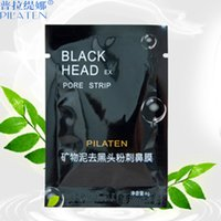 Wholesale black mask pilaten blackhead remover face mask set Tearing style Deep Cleansing purifying peel off Black head pore strips p