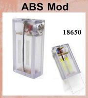 Wholesale Newest Box Mods E Cigarettes ABS Mod clear Mechanical Mod dual Battery with Protected IC ABS box mod vs pole mod TZ311